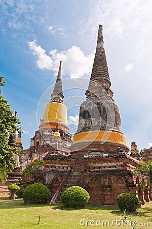 Free Ruin Pagoda In Ayutthaya Stock Photography - 20518022