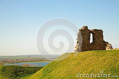 Ruin of Sandal castle.