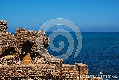 Ruin by the sea in Tipasa, Algeria