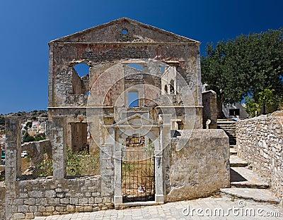 Ruin on Symi Island