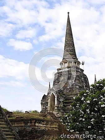 Ruina antigua de la pagoda