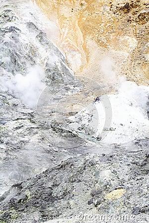 Ruinas de un cráter
