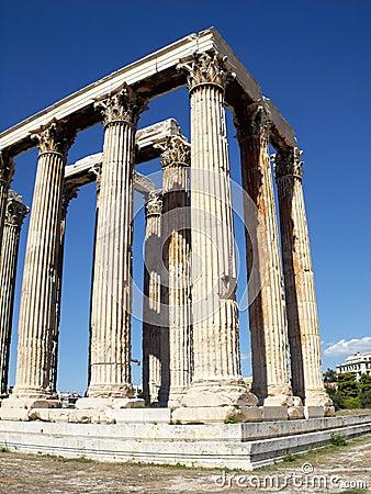 Ruinas del templo olímpico del Zeus
