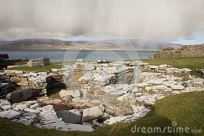 Ruined Broch remains on Orkney