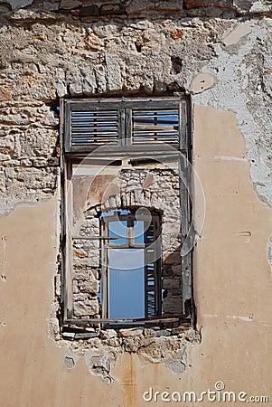 Ruined building, Halki island