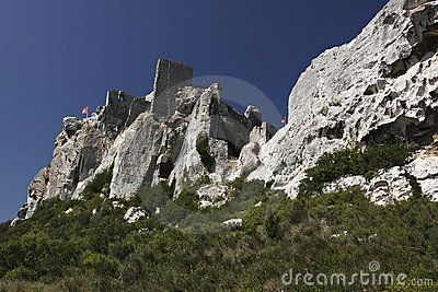 Ruined castle in Les Baux-de-Provence