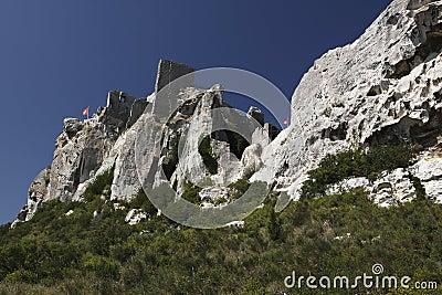 Ruined castle in Les Baux-de-Provence