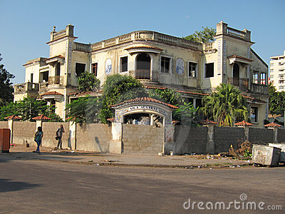 Ruined house in Maputo, Mozambique, Africa Editorial Stock Image