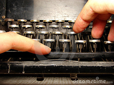 Ruined keyboard with hands