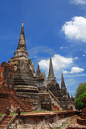 Free Ruined Old Temple, Ayutthaya, Thailand, Royalty Free Stock Images - 15100989
