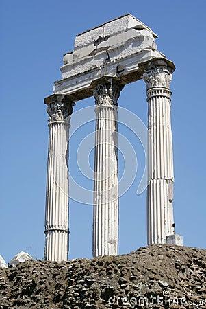 Free Ruined Roman Pillars / Columns Stock Photography - 8231972
