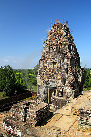 Free Ruined Sandstone Structure At Angkor Wat Stock Photos - 17987243