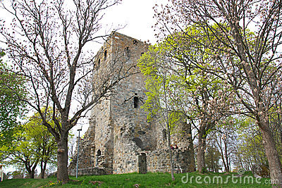 Ruined stone church
