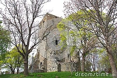 Ruined stone church