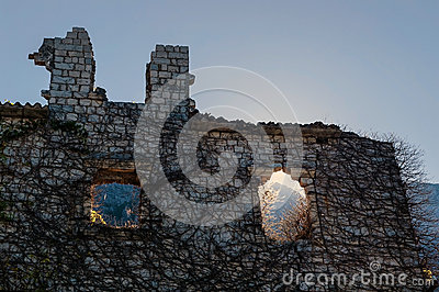 Ruined stone house
