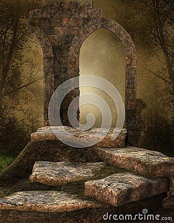 Ruined stone shrine