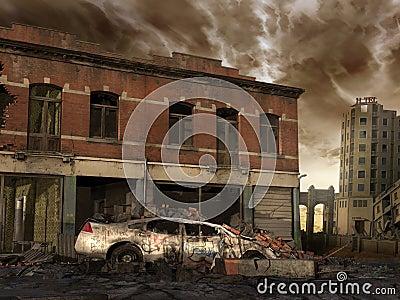 Ruined street