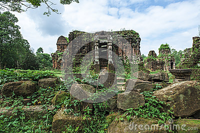 Ruined temple of the ancient Champa