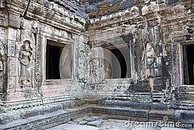 Ruined temple of Angkor wat, Cambodia