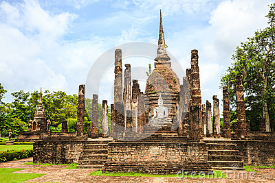 Ruined temple in sukhothai historical park