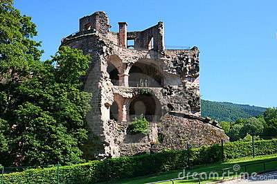 The ruined tower at heidelberg castle