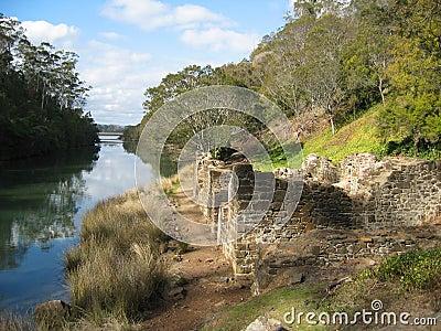 Ruines de moulin à farine