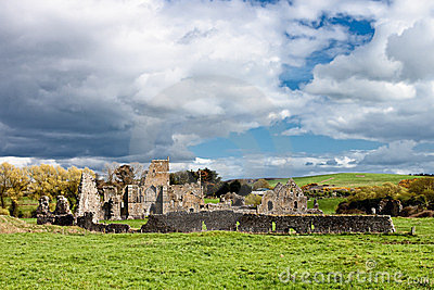 Ruins of the abbey in Ireland.