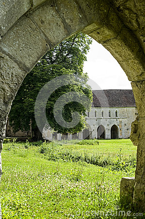 Ruins of Abbey in Normandy