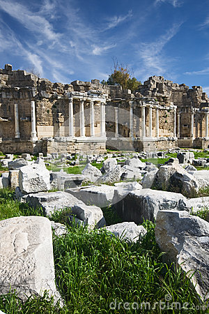 Side, agora, ancient library