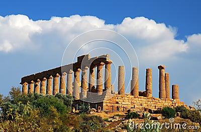 Ruins in Agrigento, Sicily greek landmark