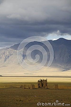 Ruins along the friendship Highway, Tibet