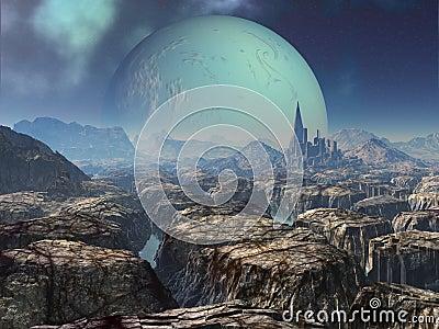 Ruins of Ancient Alien City