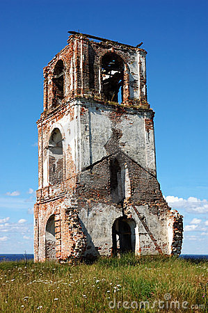 Ruins of ancient bell tower