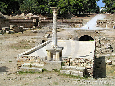Ruins of ancient city of Carthage (Tunisia)