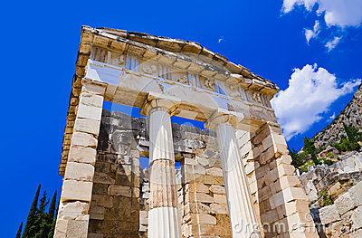 Ruins of the ancient city Delphi, Greece