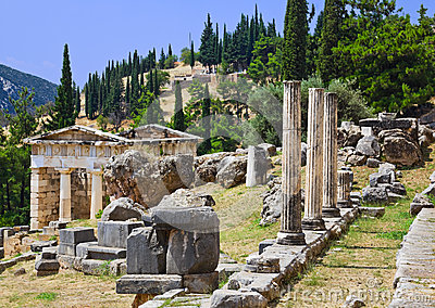 Ruins Of The Ancient City Delphi, Greece Stock Photography ...