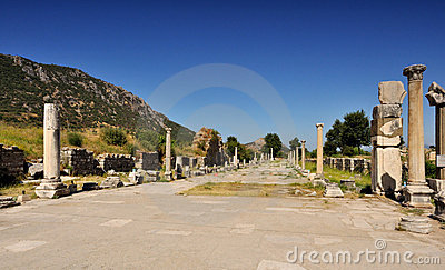 Ruins of ancient City - Ephesus in Turkey