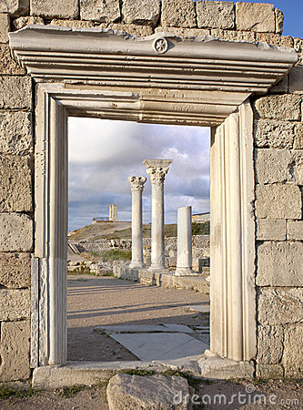 Ruins of Ancient Greek basilica at Chersonesus