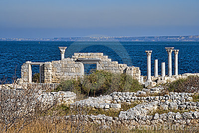 Ruins of Ancient Greek basilica in Chersonesus