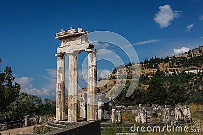 Ruins Of The Ancient Greek City Of Delphi (Delfi), Greece ...