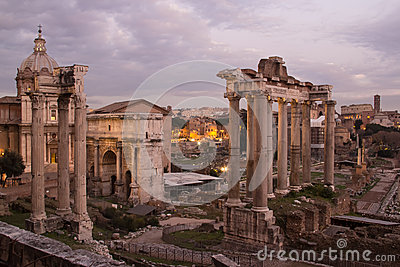 Ruins of ancient Rome and Constantine s arch