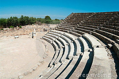 Ruins of ancient theater in Salamis