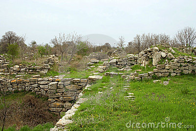Ruins Of Ancient Troy City Stock Photo - Image: 9047660
