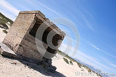 Ruins at an angle