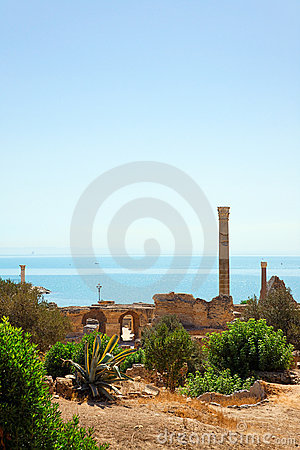 Ruins of Antonine Baths in Carthage.