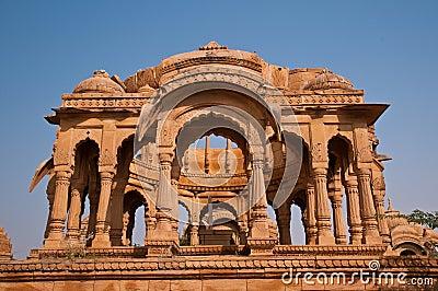 Ruins of Bada Bagh in Jaisalmer