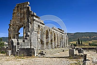 Ruins of the Basilica in Volubilis