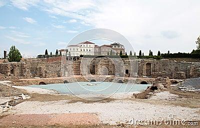 Ruins behind Royal Palace in Venaria Reale, Italy