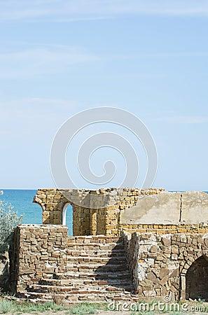 Ruins  building of limestone