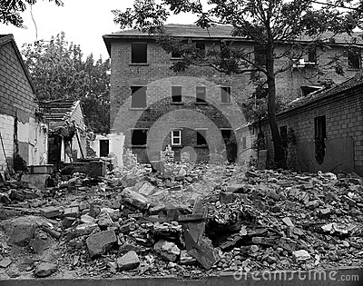 Ruins of buildings Editorial Stock Image